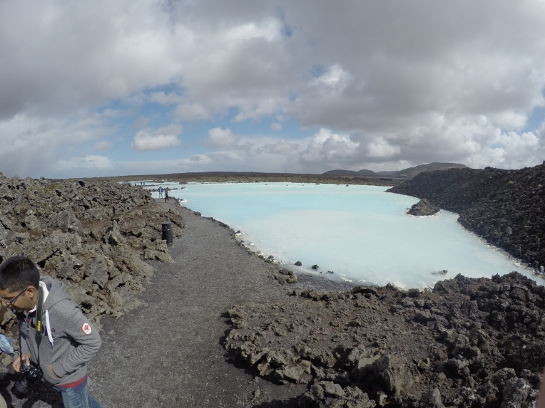 The part of the Blue Lagoon that isn't used by people