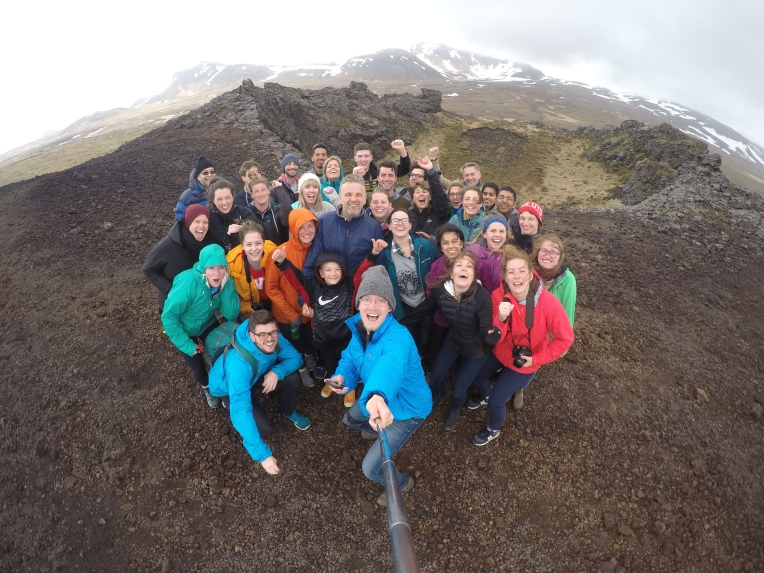 Selfie on top of a volcano #gopro
