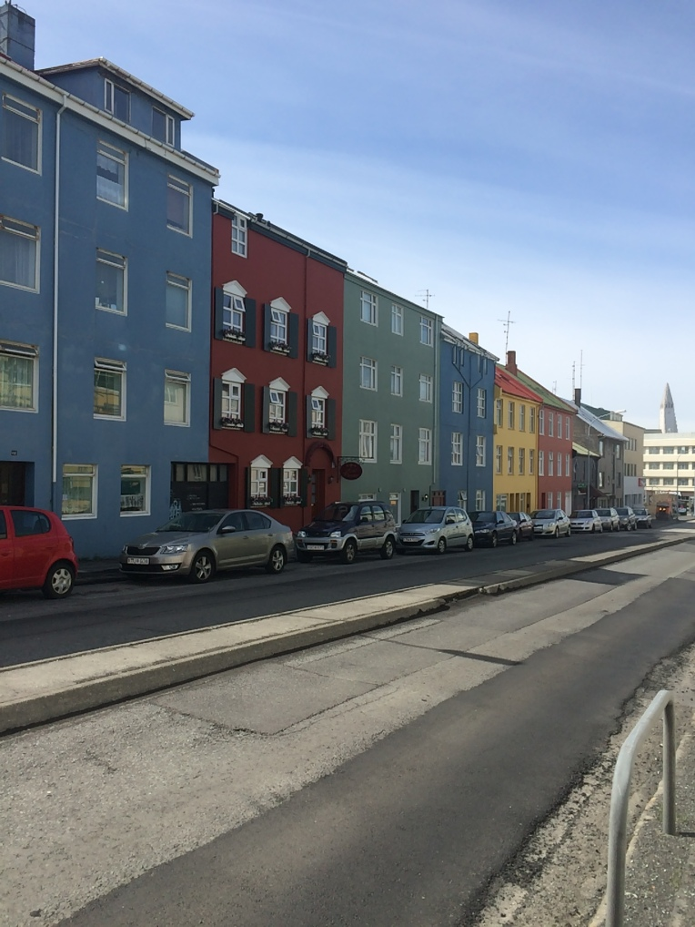 Some of the colourful buildings in Reykjavik